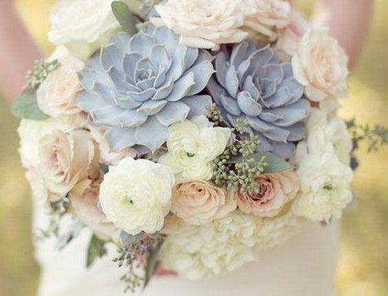bridal bouquet with succculents
