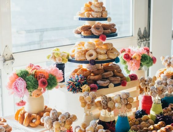 donut desserts wedding bar