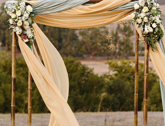 draped wedding canopy
