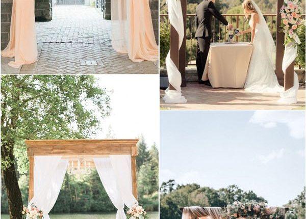 draped wedding canopy and backdrop ideas