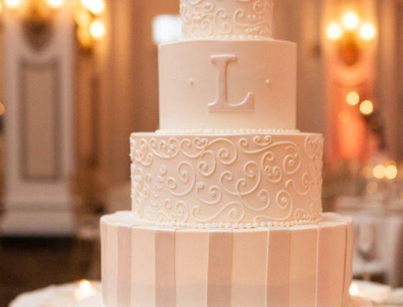 elegant classic vintage wedding cake