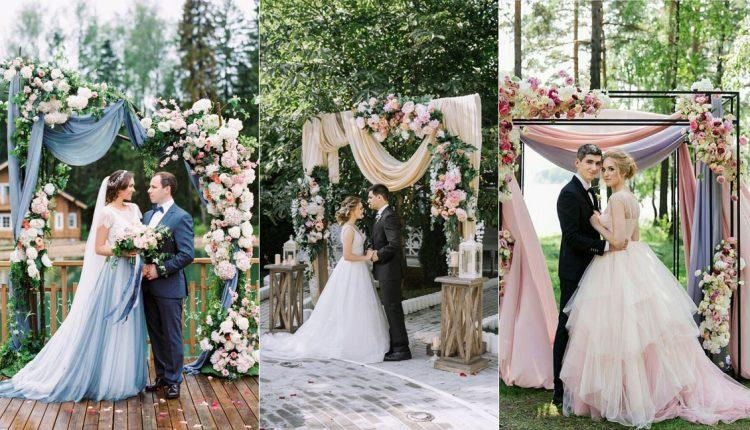 fabric wedding arch backdrops