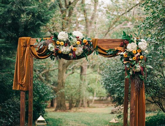 fall flowers, cake, decorations, and more for your autumn wedding