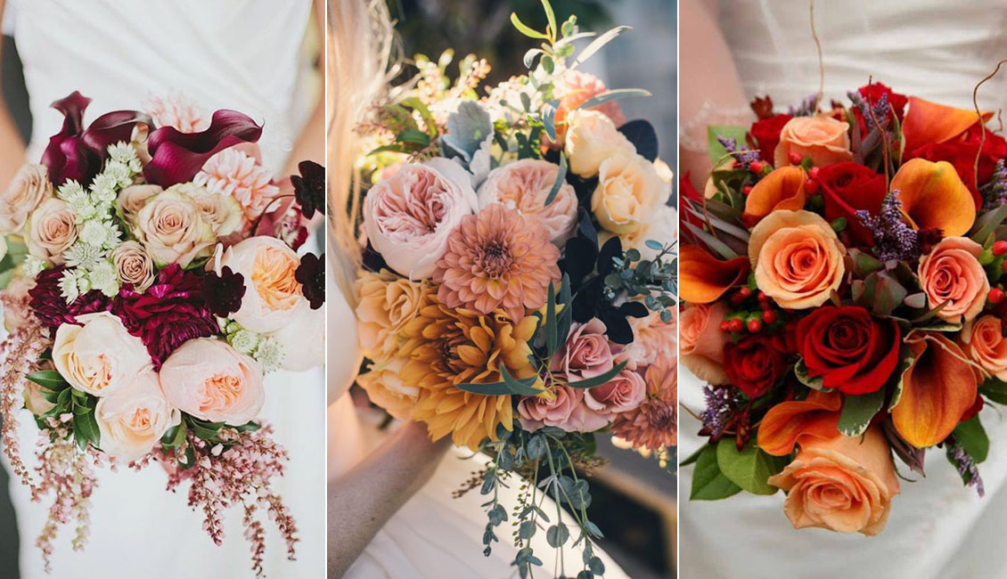 Fall Wedding Bouquets.Top 20 Fall Wedding Bouquets For Autumn Brides Roses Rings