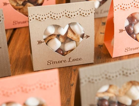 idea for s'mores wedding favors