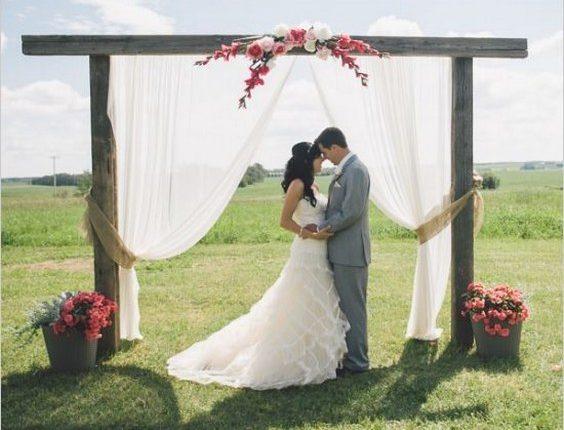 outdoor wedding ceremony arch