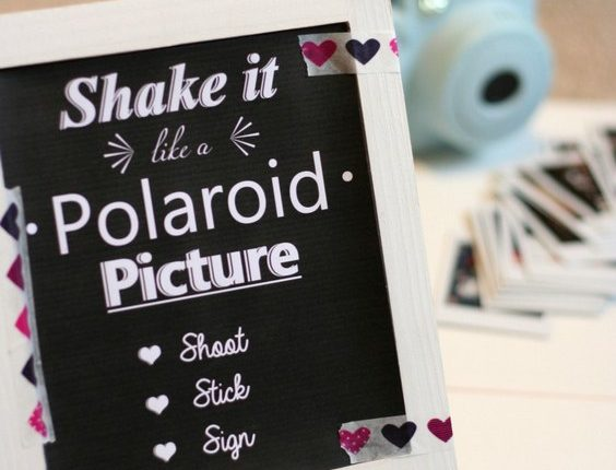 polaroid picture wedding guestbook sign
