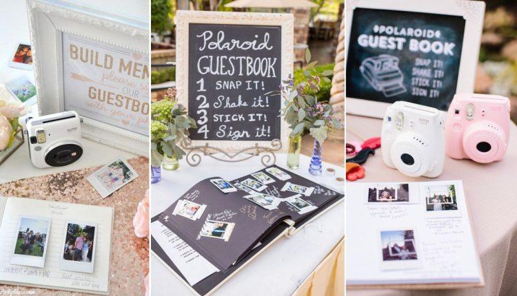 polaroid wedding guest books