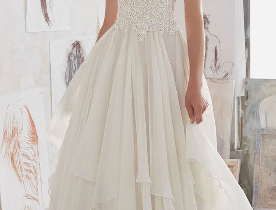 romantic ruffles morilee wedding dresses