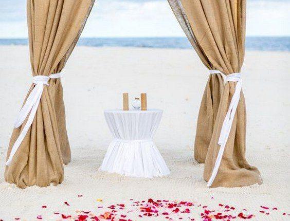 rustic beach burlap wedding arch