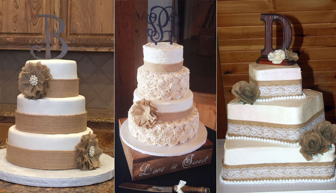 diy rustic wedding cakes say quot i do quot to these fab 20 rustic burlap wedding cakes 13617