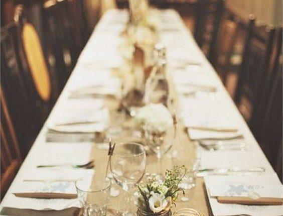 rustic burlap wedding table runner