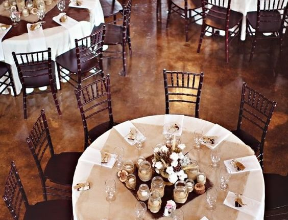 rustic country burlap wedding table cover