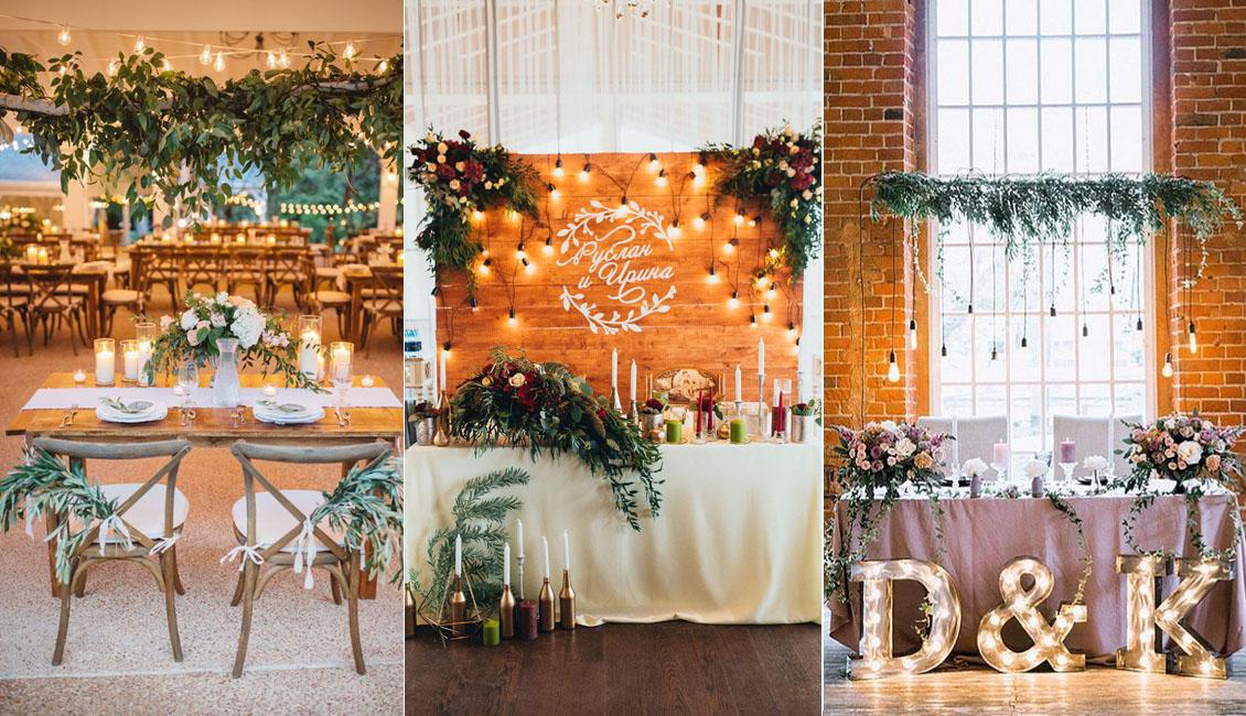 Rustic Sweetheart Table For Indoor Wedding Reception WeddingWedding Decor