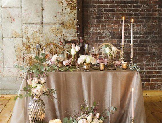 rustic vintage sweetheart table decor