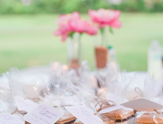 rustic wedding s'mores favors