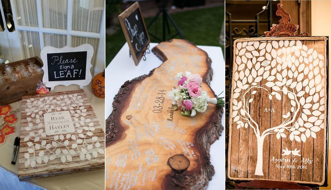 15 Wood Wedding Guest Books You Ll Love Roses Amp Rings