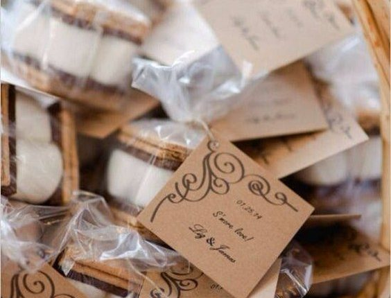 smore wedding favors for rustic weddings