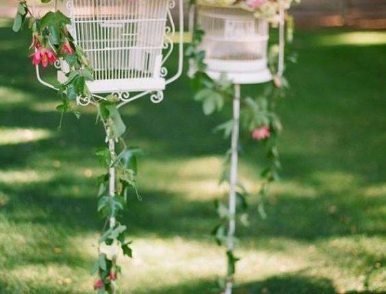 vintage birdcage wedding aisle decor