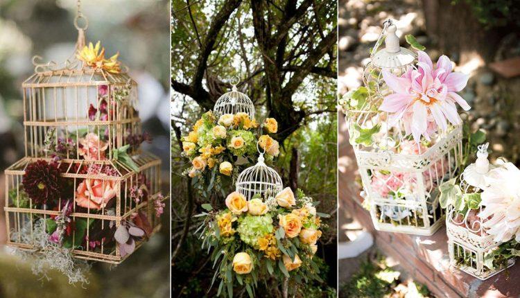 vintage birdcage wedding decor ideas