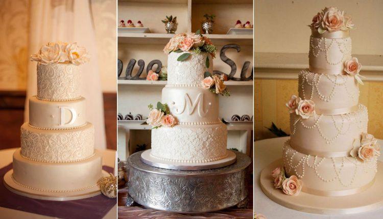 vintage elegant wedding cake ideas