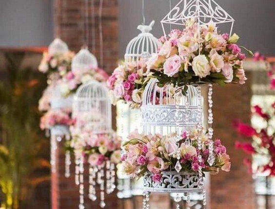 vintage hanging birdcage wedding decor