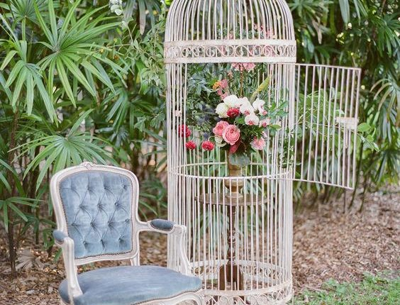 vintage large birdcage wedding decor