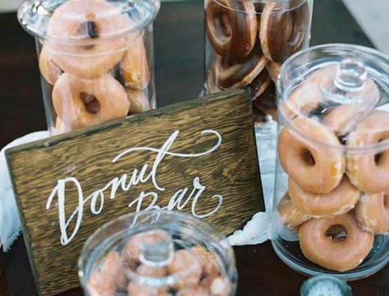 vintage wedding donut bar