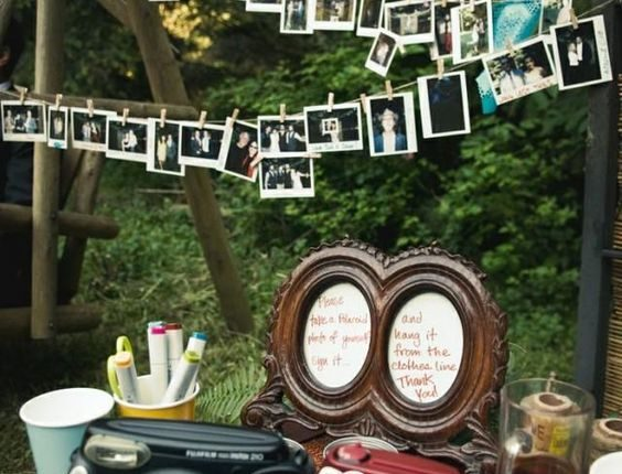 vintage wedding receptions and polaroid guest books