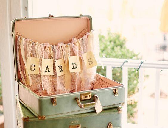wedding cards suitcase cards holder