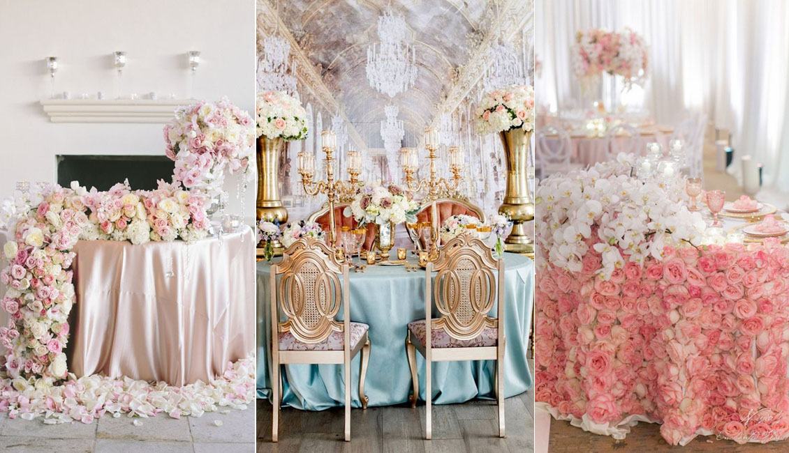 luxury wedding decoration ideas top 20 luxury sweetheart table decor ideas roses amp rings 5624