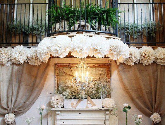 rustic barn burlap sweetheart table decor