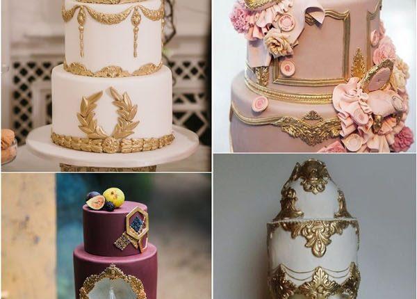 vintage baroque wedding cake ideas