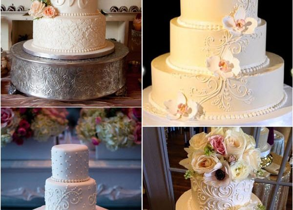 Classic vintage buttcream wedding cakes