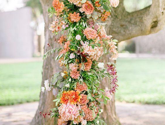 Nature Inspired Summer Wedding Backdrop