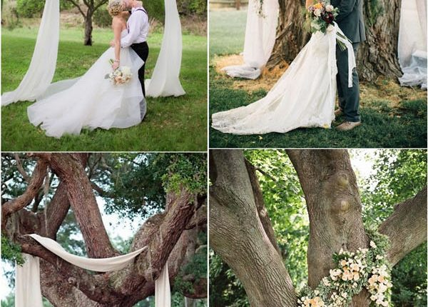Wedding Tree Ceremony Arches and Backdrops