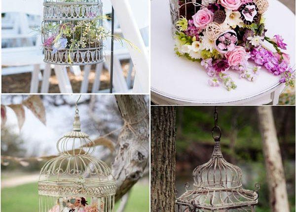 vintage birdcage wedding decor idea