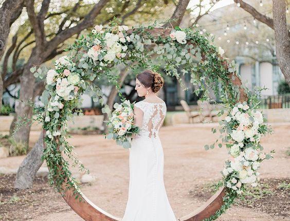 Floral Circle Wedding Arch Backdrop