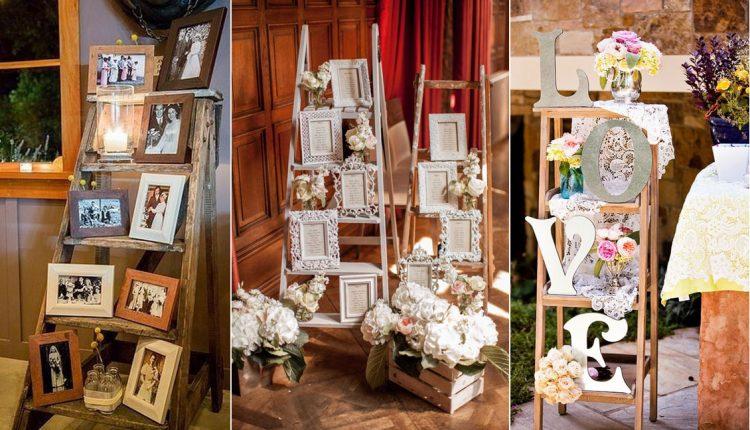 Vintage Wedding Ladder Decor Ideas