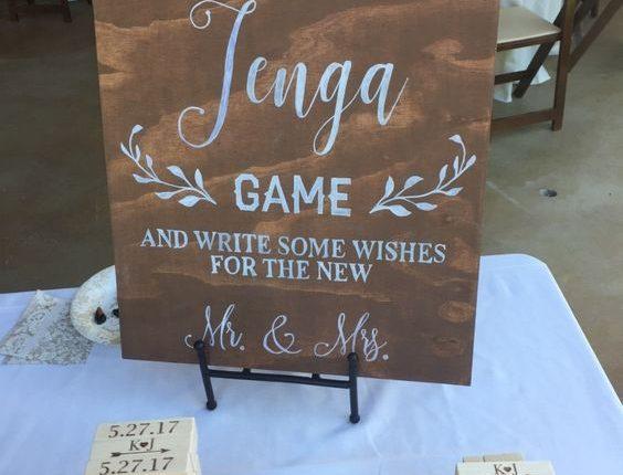 Wedding Jenga Guest Book Sign