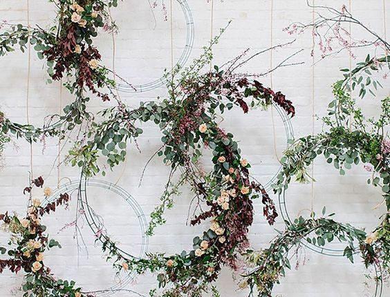 floral arch wedding ceremony wreath backdrop