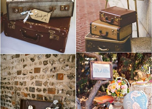 vintage wedding ideas -suitcase wedding decor ideas