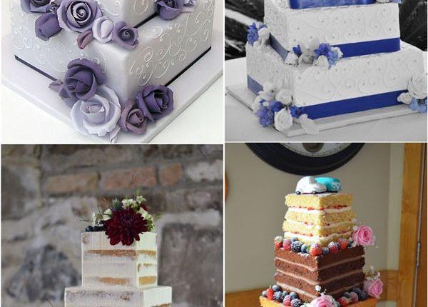 classic square wedding cake ideas