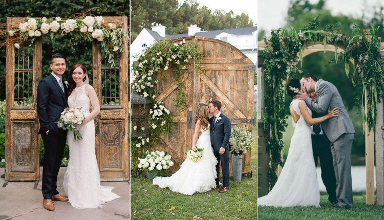 old door wedding backdrops