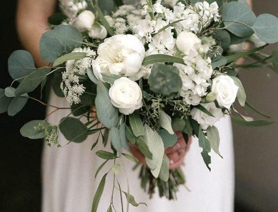 Cascading Greenery Wedding Bouquets