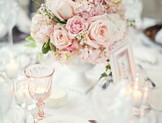Stunning pink reception centerpiece