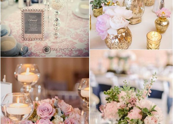 blush pink wedding centerpieces decor ideas