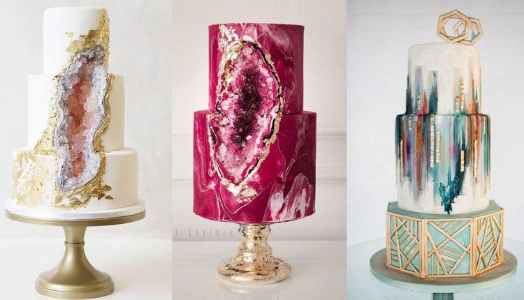 geode wedding cake ideas