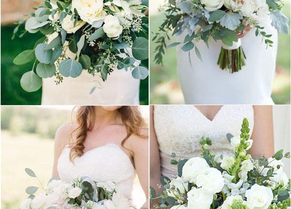 green wedding ideas greenery wedding bouquets
