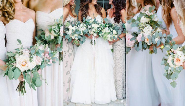 greenery wedding bouquets